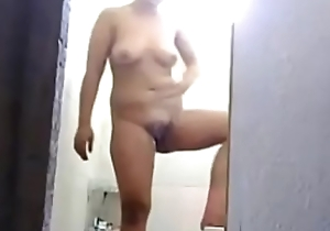 snoop membrane of my Aunt masturbating respecting burnish apply shower