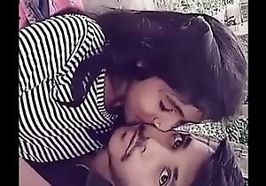 Bhabhi giving a kiss