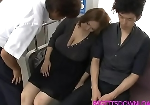 Big titties oriental screwed surpassing train