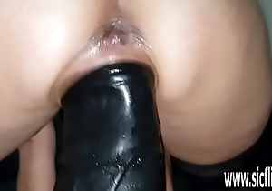 Gargantuan dildo fucking unskilled tie the knot Sarah