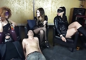 Three slaves are normal as ashtrays at the end of one's tether team a few infernal mistresses