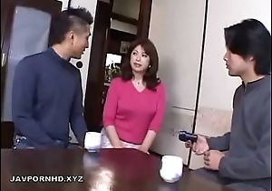 Japanese Nurturer in bathroom fucked by Nipper cock
