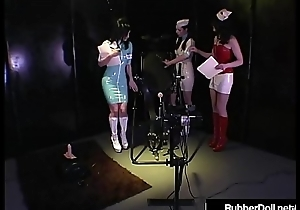 HN Rubberella Trains RubberDoll &amp_ Anastasia Above Fuck Machines
