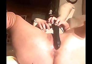 Fucking my untidy snatch coupled with tight asshole