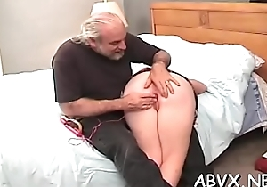 In nature'_s garb woman extreme bondage matey with excited man