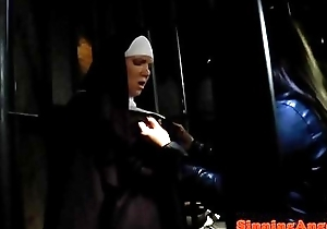 Who is the nun on touching white?
