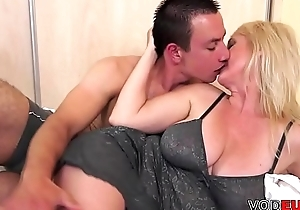 VODEU - Big titted mother gets screwed by a young guy