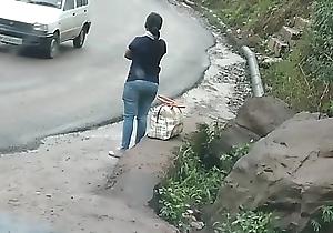 Indian piece of baggage panty fillet with haler plunder