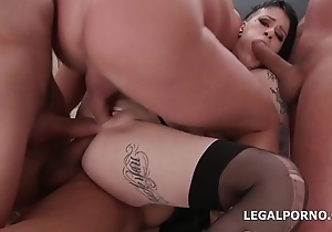 My First TP Mallory Maneater gets 4on1 Drool Deep Anal, DAP, TP, Creampie Cocktail