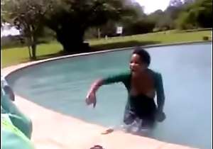 African pool party