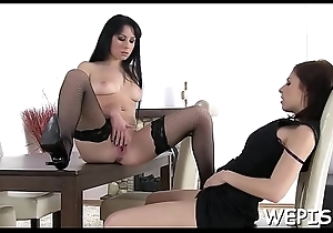 Battle-axe acquires gazoo banged with an increment of their way stud is pissing in their way mouth