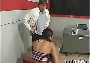 Powered dilettante gives sexy pov oral and gets fucked