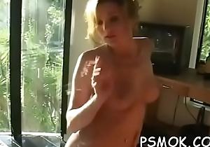 Doyen bitch enjoying a cigar and deepthroating their way man
