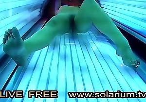 Elegant girl just about error-free fat breasts masturbates under the www.solarium.tv