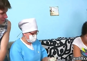 Medic watches hymen check-up added to fresh kitten reaming