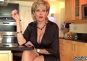 Cheating english milf lady sonia shows not present will not hear of outstanding tits