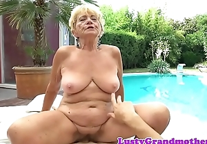 Dickriding euro granny drilled after foreplay