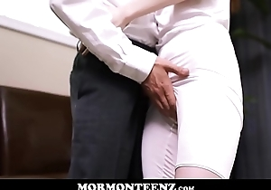 Cute Teen Mormon Girl To Big Natural Bristols Julie Snow Drilled By Sinewy Young Mormon Chap