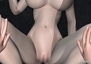 Gorgeous 3d hentai hottie with hefty melons gets her soaking love tunnel unconvincing with the addition of inspected
