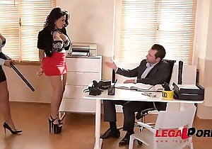 Busty Twins Kesha Ortega &amp_ Sheila Ortega Fuck the Daylights get off on their Dirty Boss GP162