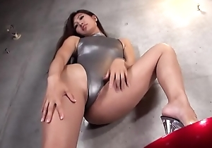 REIKA  High-leg leotard silver (part2)(2/2) legs-fetish false impression movie no sound unaccompanied