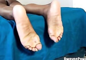 Ebony Feet in a Openwork