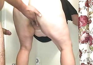 Morose BBW Acquires Drilled in Shower with Drizzle Creampie