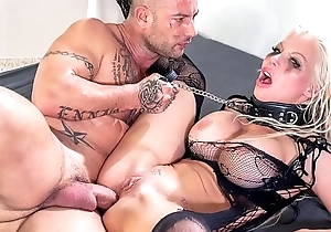 HER LIMIT - Silicone tits blonde Barbie Sins extreme anal prizefight