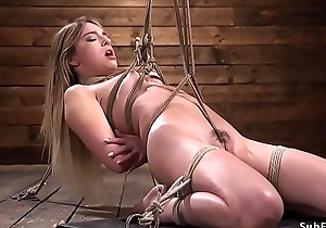Crotch rope hogtie torment be worthwhile for shadowy