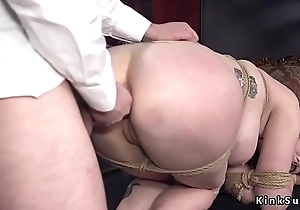 Huge tits redhead twat plus ass pounded