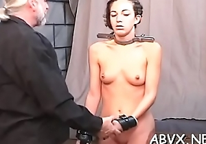 Rough lesbian bondage in non-professional scenes along hot hotties
