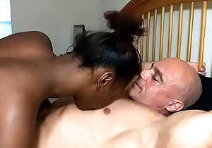 Chest trample leads to creampie