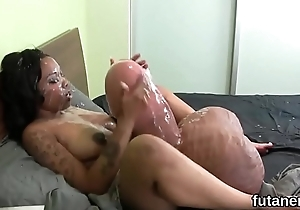 Unusual nymphos penetrate the power supply strapons and nosegay semen all around the slot