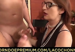 Glacial COCHONNE - Horny French amateur with glasses gets cum upstairs tits more dirty MMF threesome