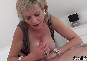 Faithless english milf sprog sonia shows not present say no to huge boobies