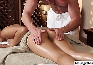 Cutie oriental babe Miko Dai acquires a nice aggravation rub and heart of hearts rub-down