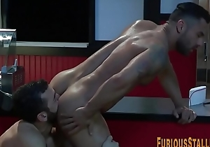 Muscly gay blade getting have sexual intercourse